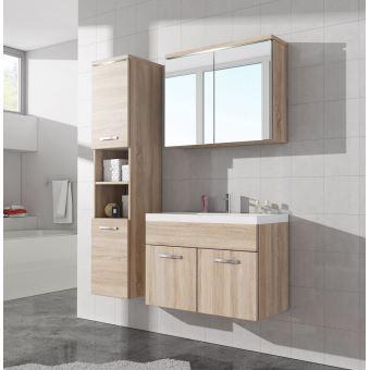 Meuble de salle de bain de Paso 80x40cm lavabo Sonoma – Armoire de  rangement Meuble lavabo armoire miroir