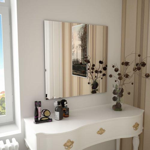 Miroir Mural Miroirs en verre Miroir Décoration pour Salon miroir Salle de Bains 70 x 70 cm