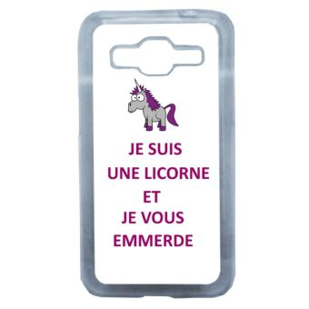 coque samsung j1 licorne