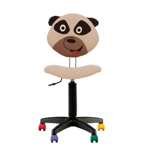 Fauteuil jouet panda, chaise de bureau pour enfant en tissu beige
