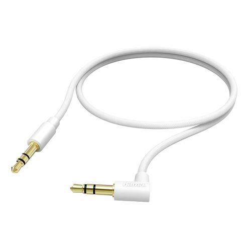 Câble de raccordement Hama jack 3,5 mm 0,5 M blanc