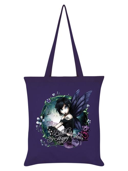 Hexxie Fourre-tout Paige Black Is My Happy Colour 38 x 42 cm violet