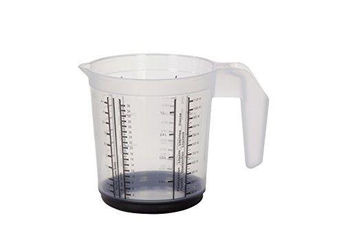 Keeeper 1049182615500 massimo verre mesureur polypropylène graphite 13,5 x 13,5 x 14 cm