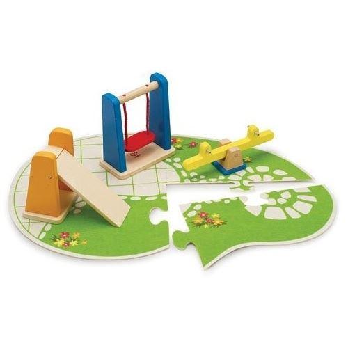 Hape Aire de jeux pour maison de poupée en bois