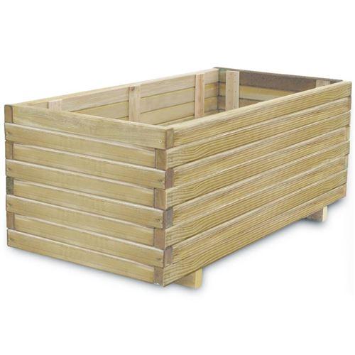 vidaXL Jardinière rectangulaire 100 x 50 x 40 cm Bois FSC