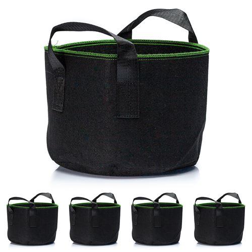 Set de 5 sacs à plantes - Blumfeldt - En tissu - 20 L - Noir