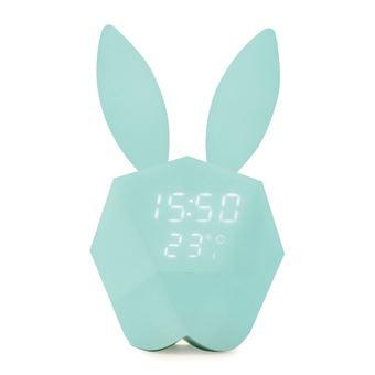 MOB Réveil fun intelligent Cutty Clock Turquoise Réveil