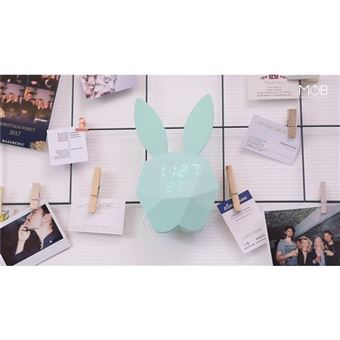 MOB Réveil fun intelligent Cutty Clock Turquoise