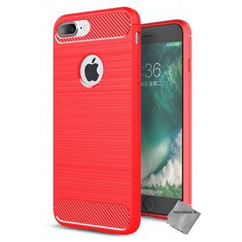 coque iphone 8 plus silicone rouge