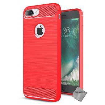 coque iphone 8 plus rouge silicone