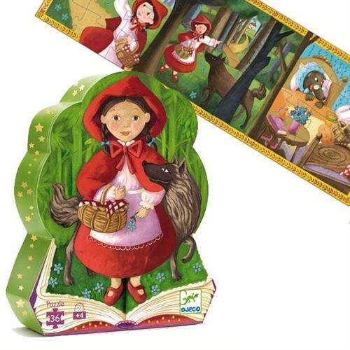 Puzzle Djeco Silhouette Livre Histoire Le Petit Chaperon Rouge 36 Pcs 4 Ans +