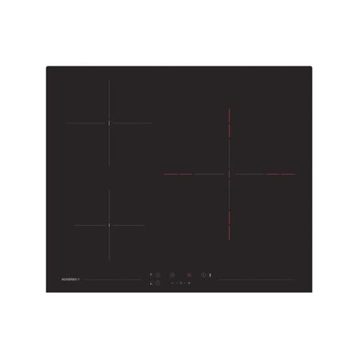 Table de cuisson vitrocéramique 60cm 3 foyer 5600w noir - rh63tct/1