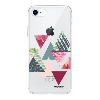 Coque pour iPhone 7/8/ iPhone SE 2020 360 intégrale transparente Triangles Jungle Tendance [®]