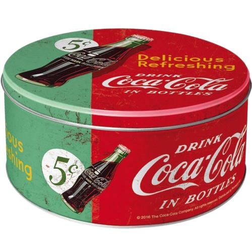 Grande boite ronde Coca Cola