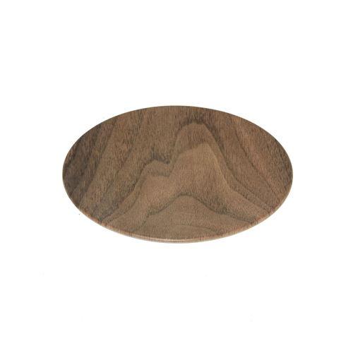 Assiette à dessert design bois Mood - Diam. 20 cm - Marron