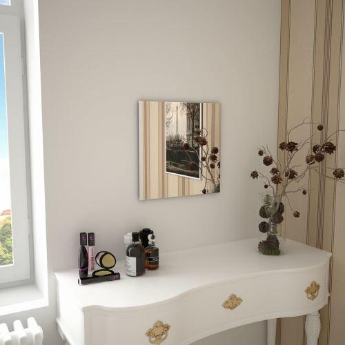 Miroir Mural Miroirs en verre Miroir Décoration pour Salon miroir Salle de Bains 40 x 40 cm