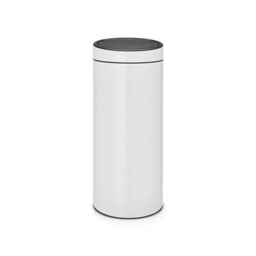 Brabantia poubelle touch bin new - 30l - blanc 115141