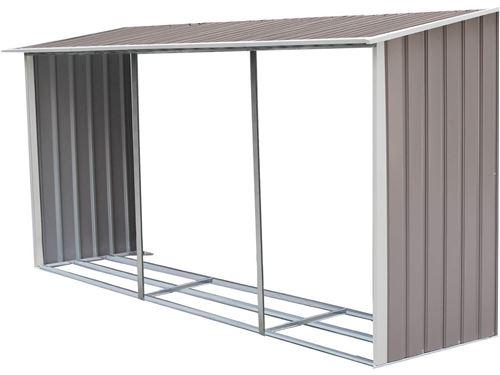 option abri bûches pour abri de jardin dallas 15.16 m²