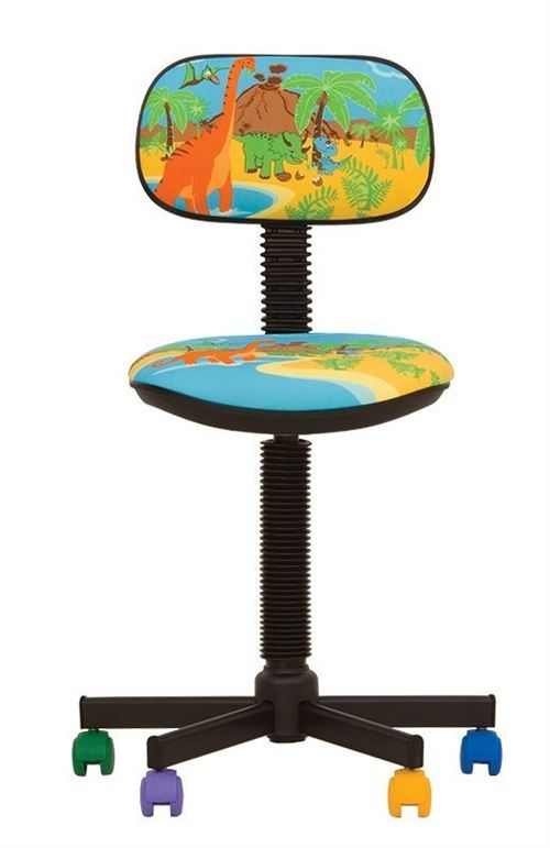 Bambo dino- chaise de bureau pour enfant tissu bleu