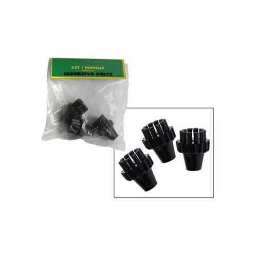 Petite brosse noire x3 pour nettoyeur a vapeur polti - d309966