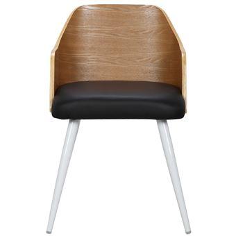 Lot de 2 chaises scandinaves Persane Bois Chêne et Simili
