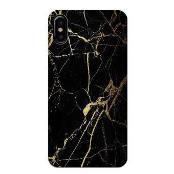 Coque Iphone X Marbre noir or