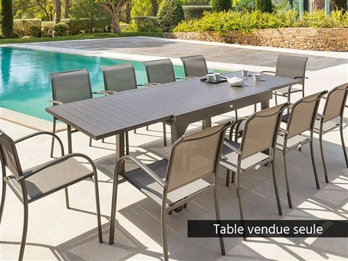 Tonka Piazza Table Extensible Taupe Personnes Rectangulaire 10 Hespéride TKF1Jcl