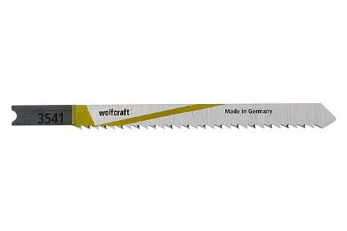 Wolfcraft 3541000 2 Lames de Scie Sauteuse Hcs Queue en U Longueur Dentée : 75 Mm Denture en Opposition Dents Avoyées Rectifiées Pas de Dents 2 Mm Dos Conique