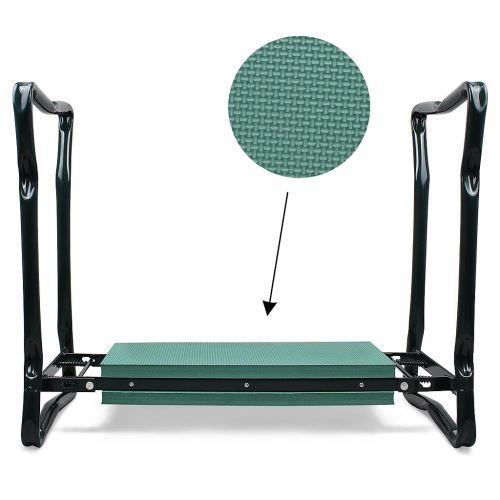 Leogreen - Banc Agenouilloir de Jardin, Siège de Jardin Pliable, Vert, Taille déployée: 62 x 48 x 28 cm