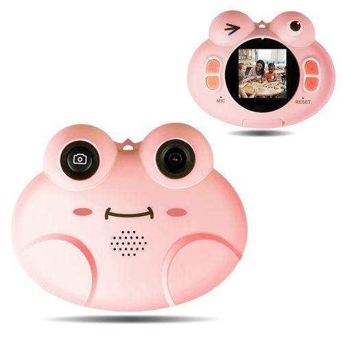 Appareil Photo Numériques GIANTEX Rose avec Ecran HD, Objectif Arrière 8 MF Fonction Vidéo 1080p, 16 Go SD pour Enfants 3 -10 Ans