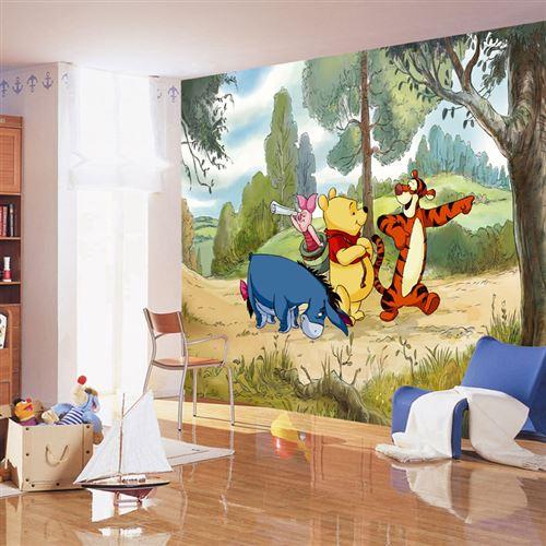 Papier peint XXL intisse Aventure Winnie l'Ourson Disney 360X255 CM