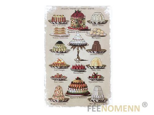 plaque métal déco vintage - tricar voiture 3 roues - made in usa - station service chez roxie's (20x30cm)