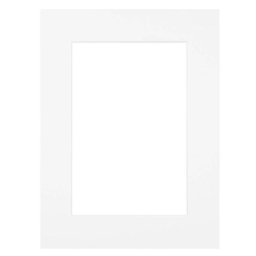 Passe-partout blanc 30x40 cm ouverture 24x30 cm, Carton - marque française
