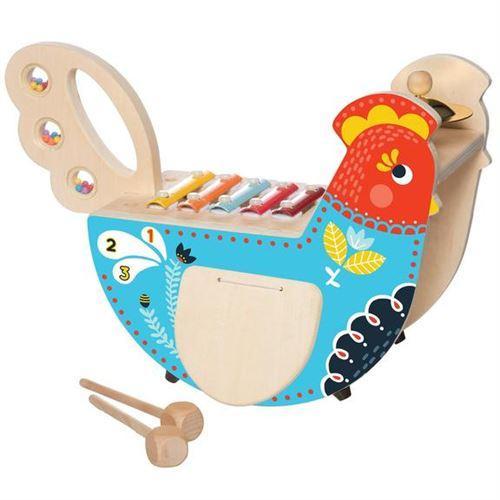Manhattan Toy instrument de musique Poulet à bascule 27 cm bois/acier