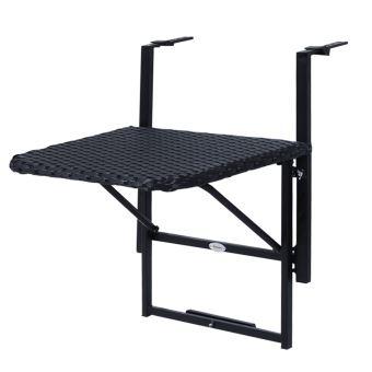 Table Suspendue Pour Balcon 58l X 55l Cm Hauteur Reglable Et Pliable