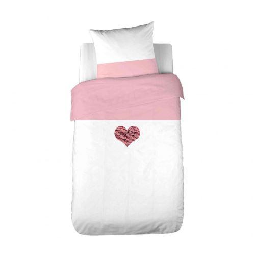 Parure de lit enfant Sequins Coeur 140x200 cm