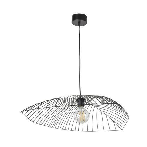 corep suspension en métal leaf - h 15 cm - e 27 - 60 w - noir mat