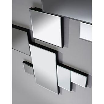 Miroir design Puzzle Contemporain Rectangulaire Naturel 48x68 cm