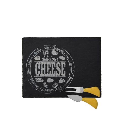 Plateau de service à fromage et ustensile - Noir - Rectangle
