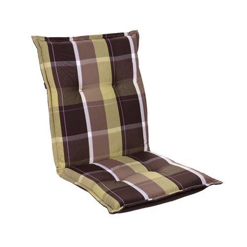 Coussin de chaise de jardin -Blumfeldt Prato -103 x 52 x8 cm -1 pièce -Carreaux Verts