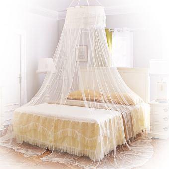 Moustiquaire ciel de lit baldaquin pour lit double jaune ciel de lit achat prix fnac - Moustiquaire baldaquin pour lit double ...