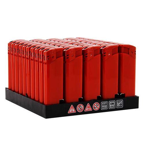 Lot de 50 briquets décapsuleurs Rouge
