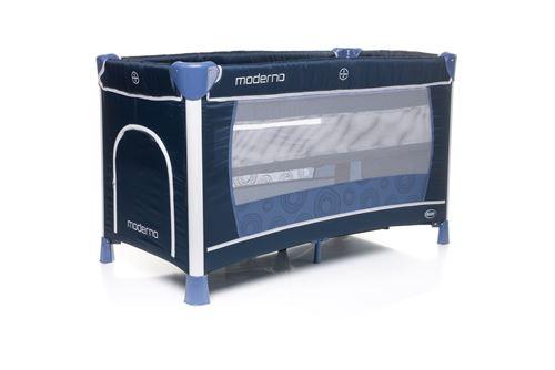 Lit parapluie deux niveau avec table à longer HODERN - max 14kg bleu marin