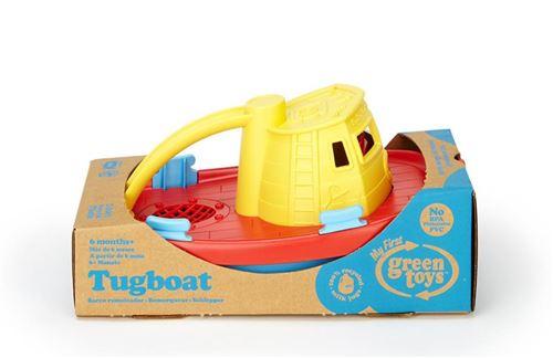 Remorqueur de jeu de l'eau de bain de Green Toys, jaune Top 6+ mois