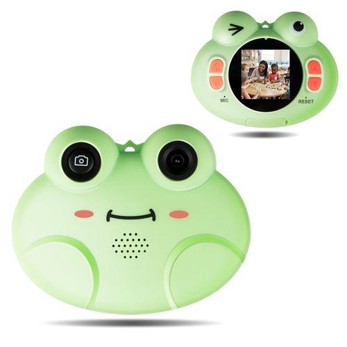 Appareil Photo Numériques GIANTEX Vert pour Enfants avec Ecran HD, Objectif Arrière 8 Mp Fonction Vidéo 1080p, 16 Go SD pour 3 -10 Ans