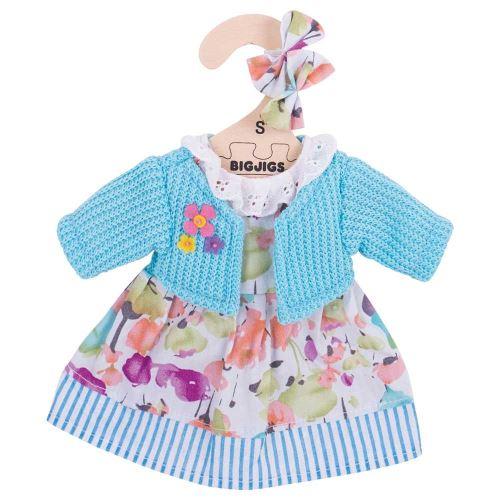 Bigjigs Toys Cardigan Turquoise et Robe (pour Une poupée de 28 cm)