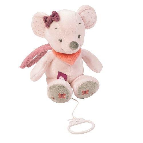 Peluche musicale Nattou Valentine la souris Collection ' Adèle et Valentine '