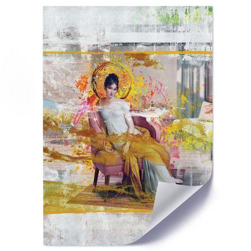 Feeby Affiche Décoration murale Poster Image moderne, Dame dans une chaise 50x70 cm