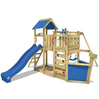 wickey aire de jeux en bois oceanflyer tour d 39 escalade avec balan oire et toboggan bleu autre. Black Bedroom Furniture Sets. Home Design Ideas