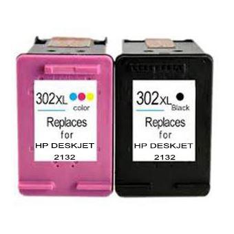 Fantastic 2 Cartouches 302 Xl Bk Color Pour Imprimante Hp Deskjet 2132 Interior Design Ideas Gentotryabchikinfo